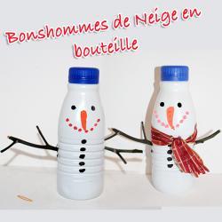 Bonhomme de neige bouteille de lait