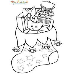 Chaussette à jouets de Noel