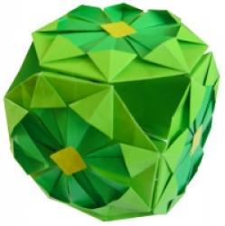 pliage d'une boule en papier