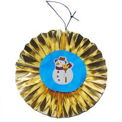 Décoration de Noël en papier facile  et rapide à faire , il suffit de plier deux carré de papier en accordéon et la boule plissée est presque terminée.