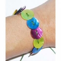 Bracelet Boutons de nacre ronds