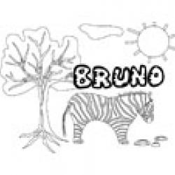 Bruno, coloriages Bruno