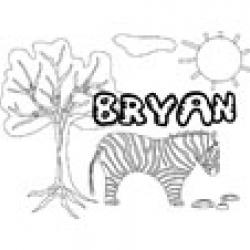 Bryan, coloriages Bryan