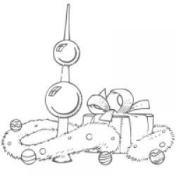Coloriage de décorations boules de Noël
