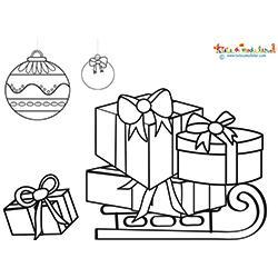 Cadeaux de Noël sur la luge