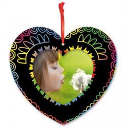 Cadre photo coeur en carte à gratter