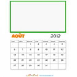 Calendrier à illustrer 2012 : mois d'aout