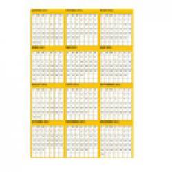 Calendrier 2012 jaune à imprimer