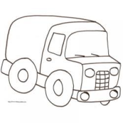 coloriage d'un camion