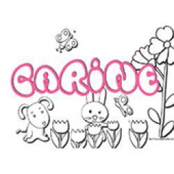 Carine, coloriages Carine
