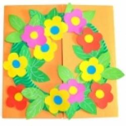 Fabriquer une carte couronne de fleurs