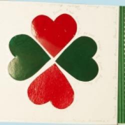 Fabriquer une carte aux 4 coeurs