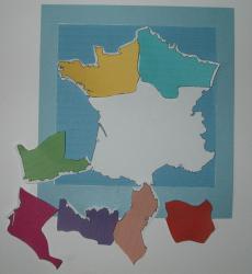 Puzzle sur la carte de France