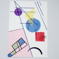 Carte Kandinsky, carte en papier de soie