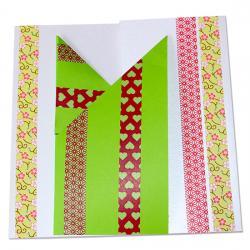 Carte fête des mères en origami et masking tape