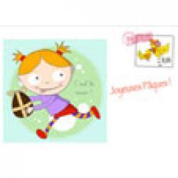 Nana et son oeuf, une carte de Pâques pour les enfants