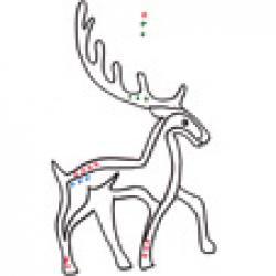 Imprimer l'exercice de graphisme celtique 2 : cerf