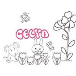 Celya, coloriages Celya
