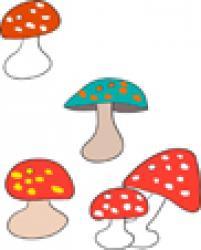 graphisme champignons automne