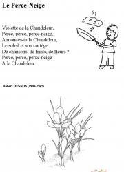 poésie de la chandeleur et du perce neige