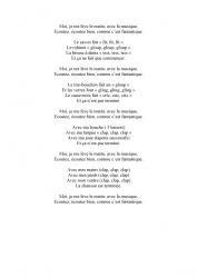 chanson -  Moi je me lève