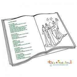 Chanson des rois Mages à colorier