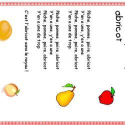 Pomme poire  pêche abricot