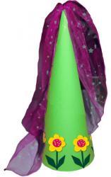 Chapeau de princesse aux grosses fleurs