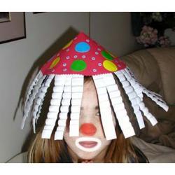 Fabriquer un chapeau de clown pour le déguisement
