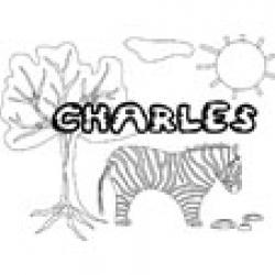 Charles, coloriages Charles