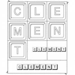 Activité de jeu sur les prénoms comme Clément