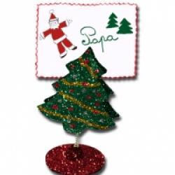 Clip de Noël sapin pailleté
