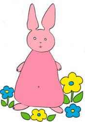 Lapin colorié