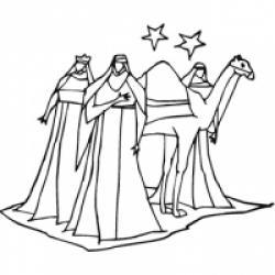 Coloriages de l'Ephiphanie et des rois mages