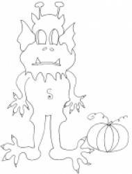 coloriage d'un monstre d'halloween