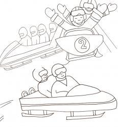 Coloriages sur le bobsleigh et la luge. Retrouvez nos dessins à imprimer gratuitement.
