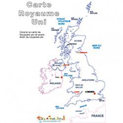 Coloriage de la carte du Royaume-Uni