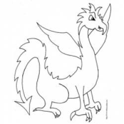 Coloriage de dragons, dragons à imprimer