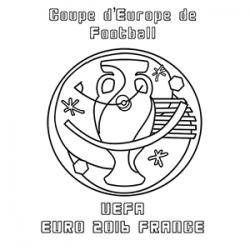 Coloriage du blason foot EURO 2016