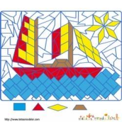 Jeux de coloriages géométriques