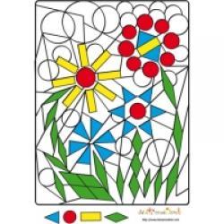 solution jeux coloriage géométrique