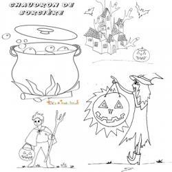 Coloriage Halloween a imprimer pour les vacances
