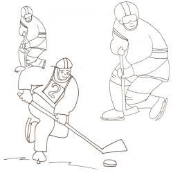 Coloriages sur le hockey sur glace