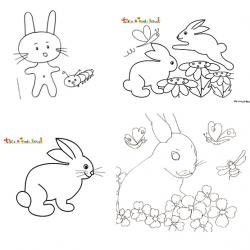 Coloriage de lapin