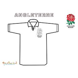 Coloriage du maillot de rugby d'Angleterre