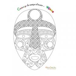 Coloriage du masque Vijana