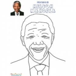 Coloriage Nelson Mandela