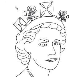 Coloriage de la Reine Élisabeth II