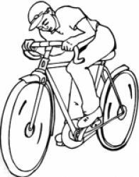 Coloriage sport cycliste