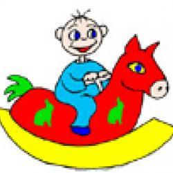 Une petite comptine à chanter quand bêtete&#x3B; est sur le cheval à bascule